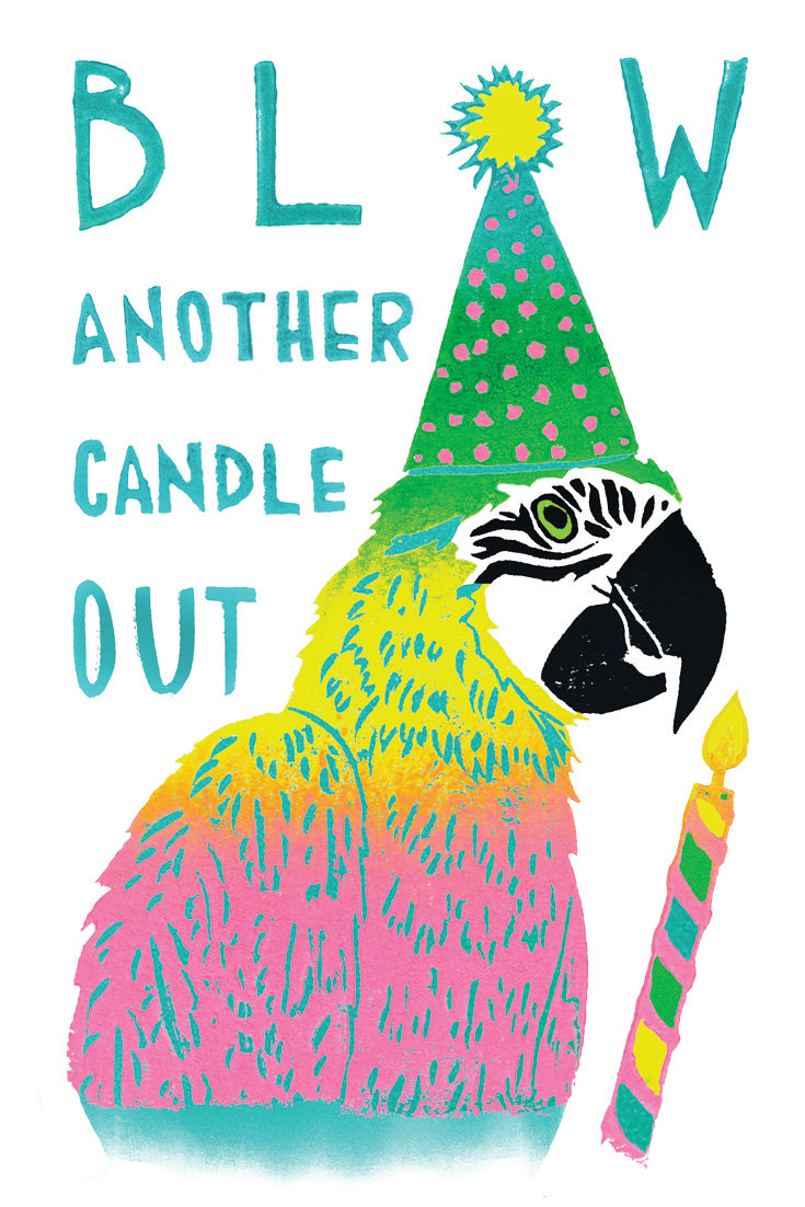 Blow Another Candle Out Greeting Card 6-Pack Inspired By Music