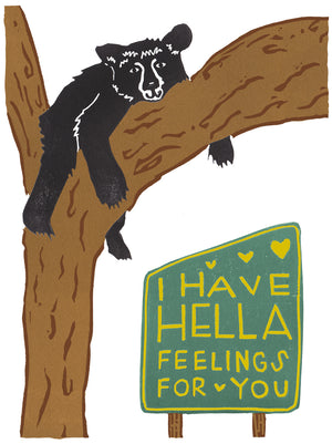 I Have Hella Feelings For You Greeting Card 6-Pack Inspired By Music