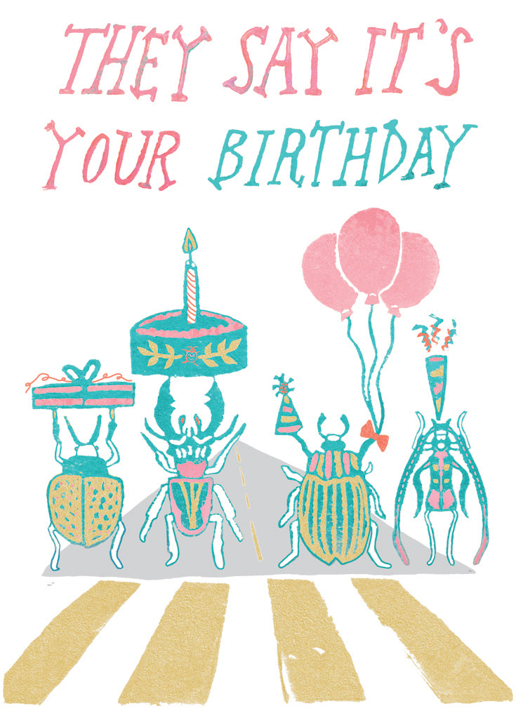 They Say It's Your Birthday Greeting Card 6-Pack Inspired By Music