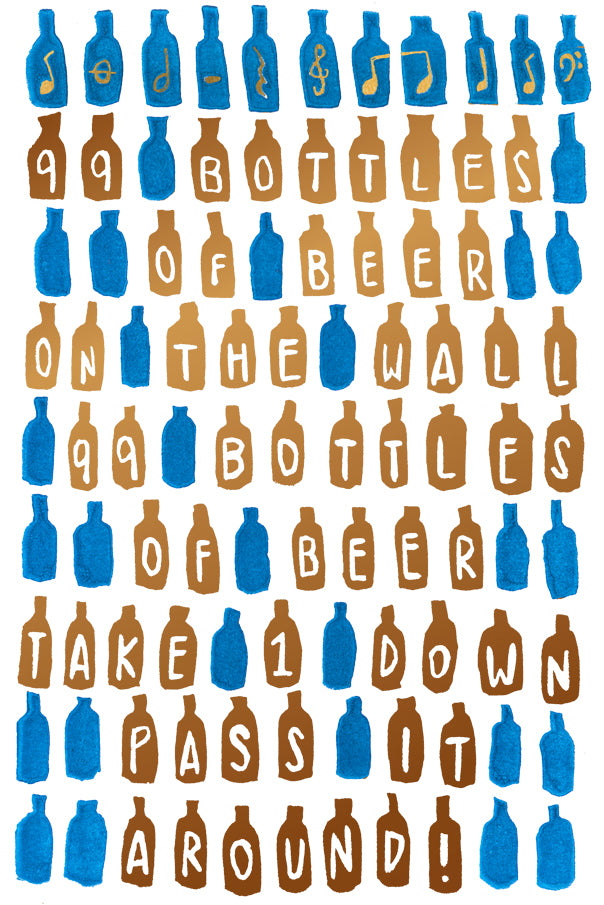 99 Bottles Of Beer On The Wall 99 Bottles Of Beer Greeting Card