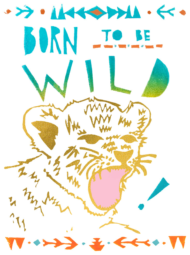 Born To Be Wild Greeting Card Inspired By Music