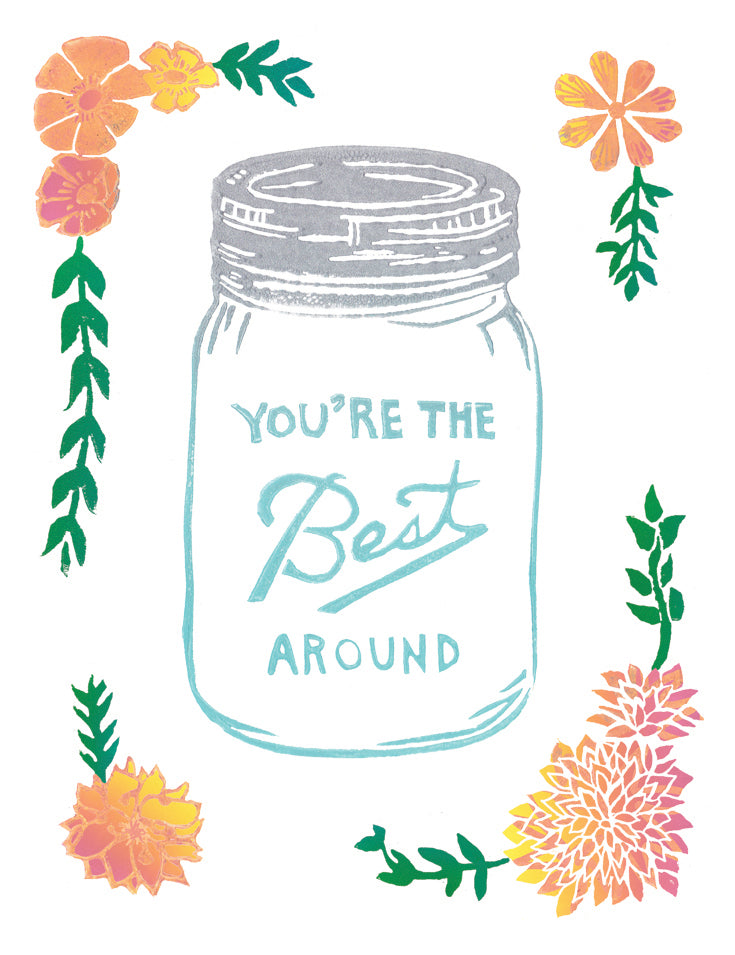 You're The Best Around Greeting Card 6-Pack Inspired By Music