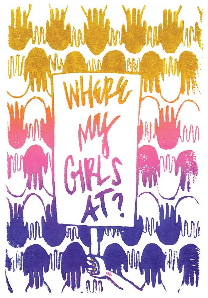 Where My Girls At Greeting Card 6-Pack Inspired By Music