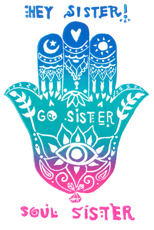 Hey Sister Go Sister Soul Sister Greeting Card