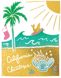 California Christmas Greeting Card 6-Pack Inspired By Music