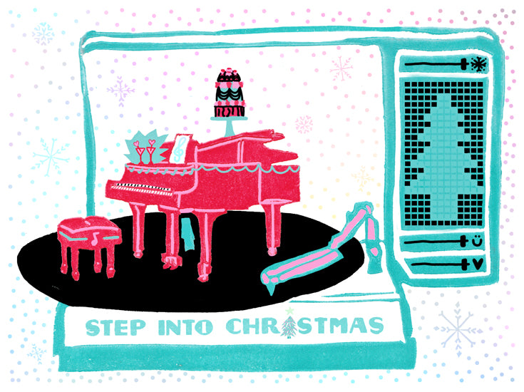 Step Into Christmas Greeting Card