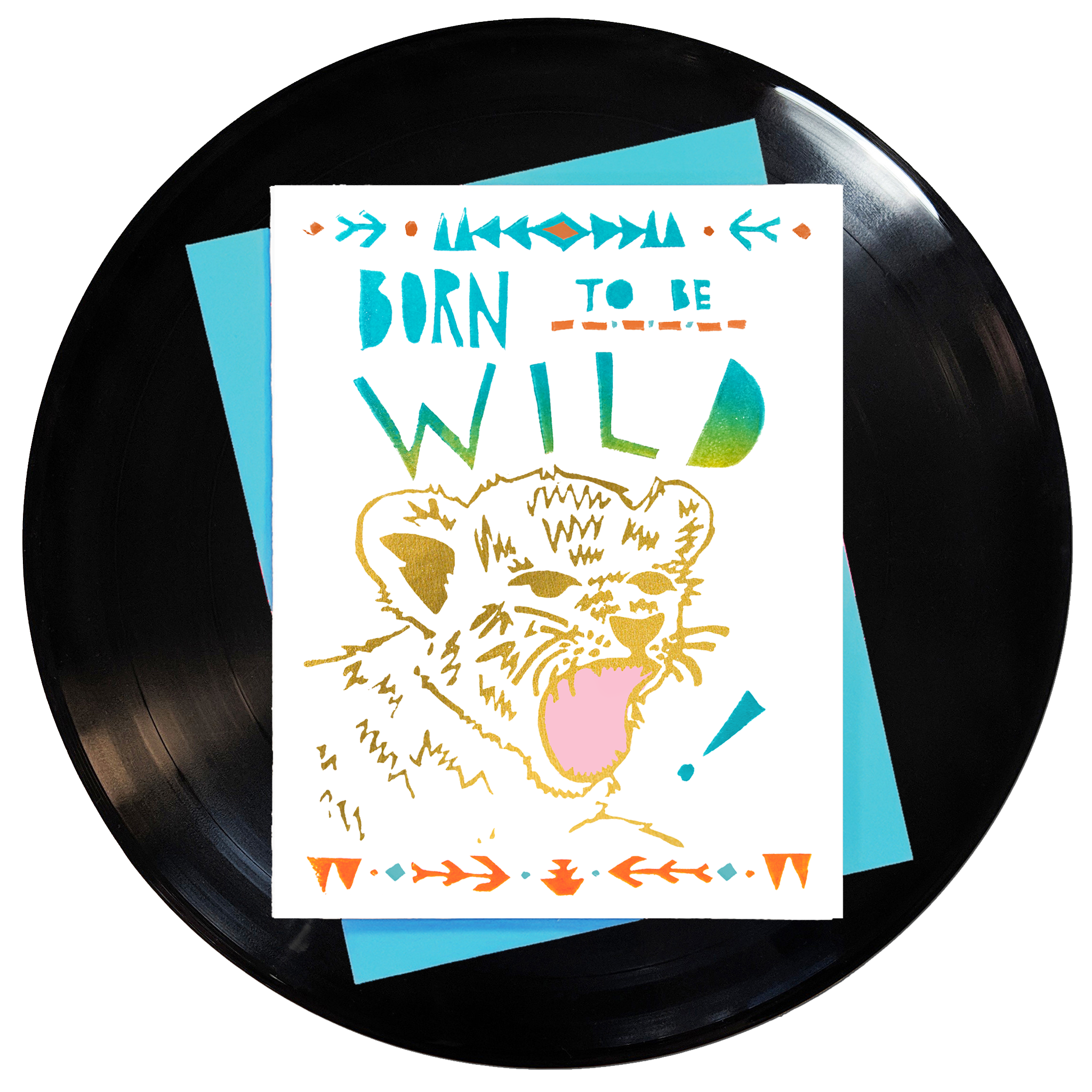 Born To Be Wild Greeting Card 6-Pack Inspired By Music
