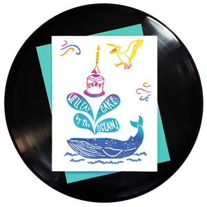 We'll Eat Cake By the Ocean Greeting Card - Wholesale