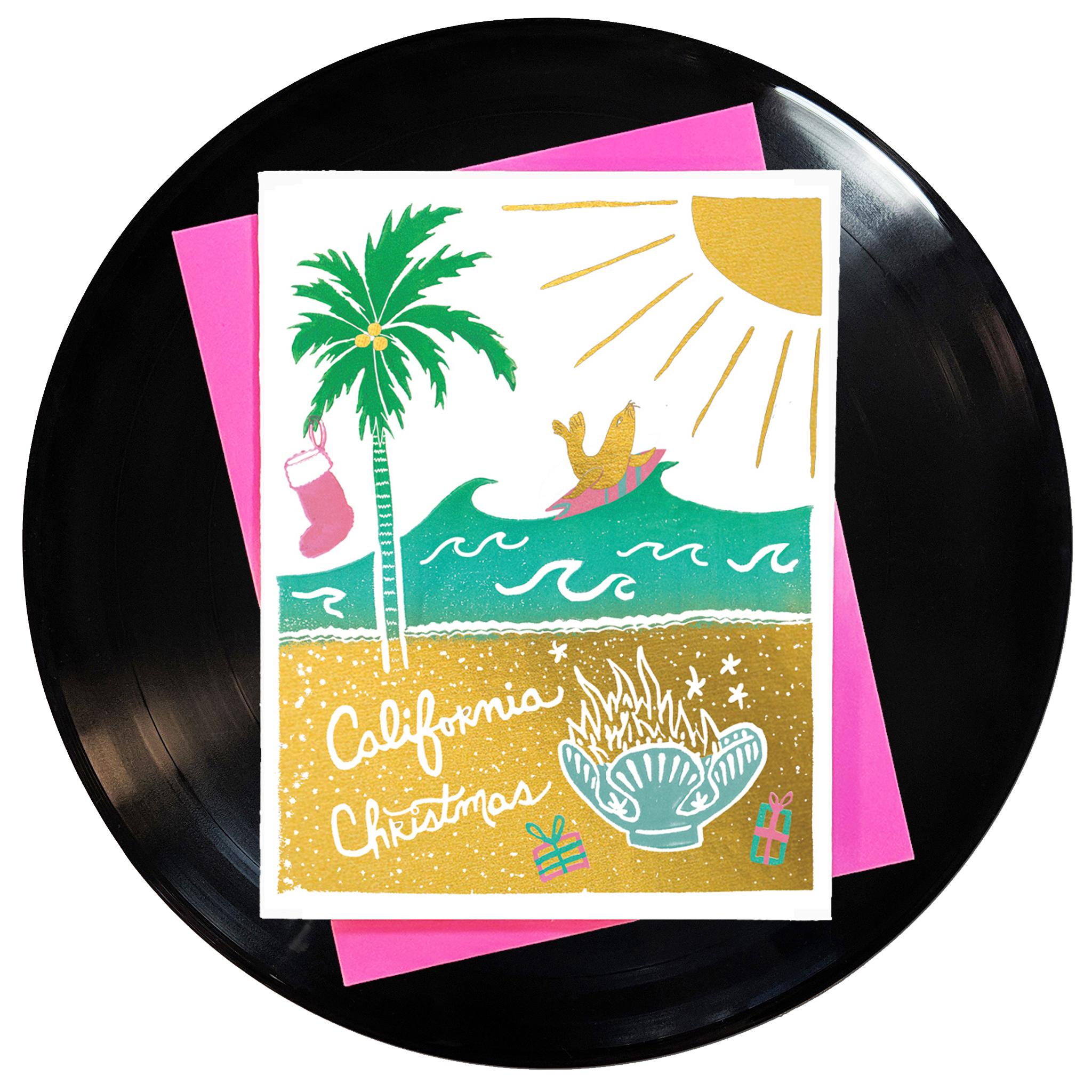 California Christmas Greeting Card