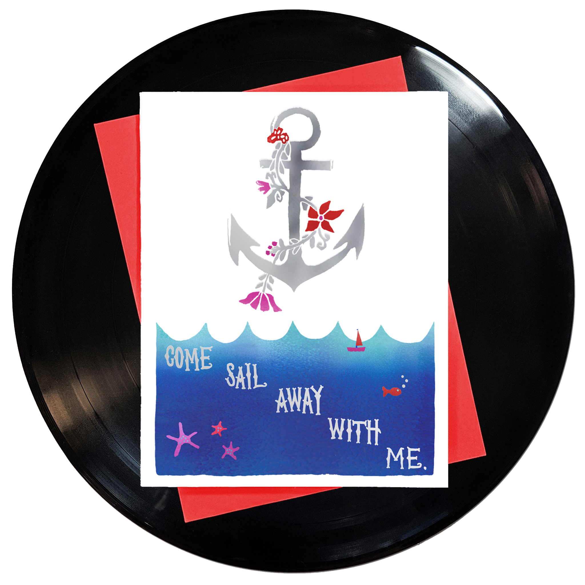 Come Sail Away With Me Greeting Card 6-Pack Inspired By Music