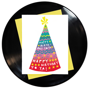 Happy Birthday Happy Birthday To Ya Greeting Card 6-Pack Inspired By Music