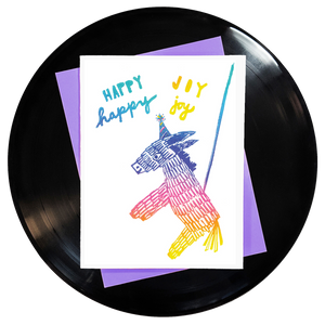 Happy Happy Joy Joy Greeting Card Inspired By Music