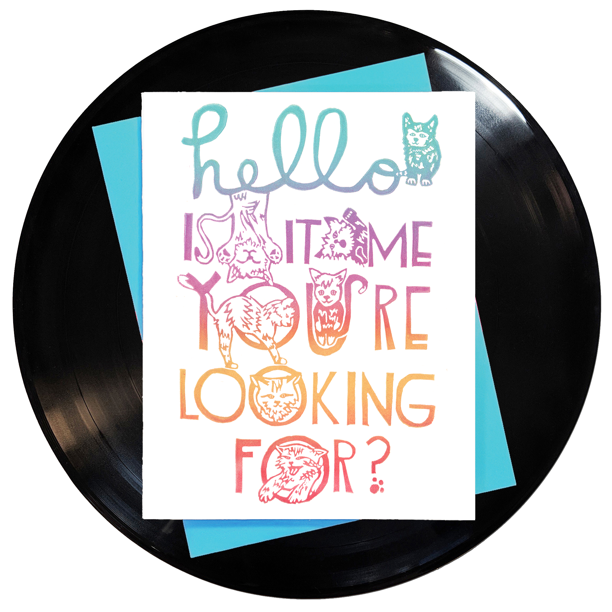 Hello Is It Me You're Looking For? Greeting Card 6-Pack Inspired By Music