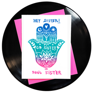 Hey Sister Go Sister Soul Sister Greeting Card 6-Pack Inspired By Music