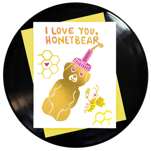 I Love You Honeybear Greeting Card