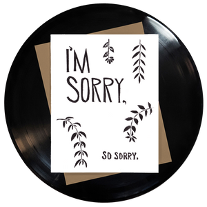 I'm Sorry So Sorry Greeting Card Inspired By Music