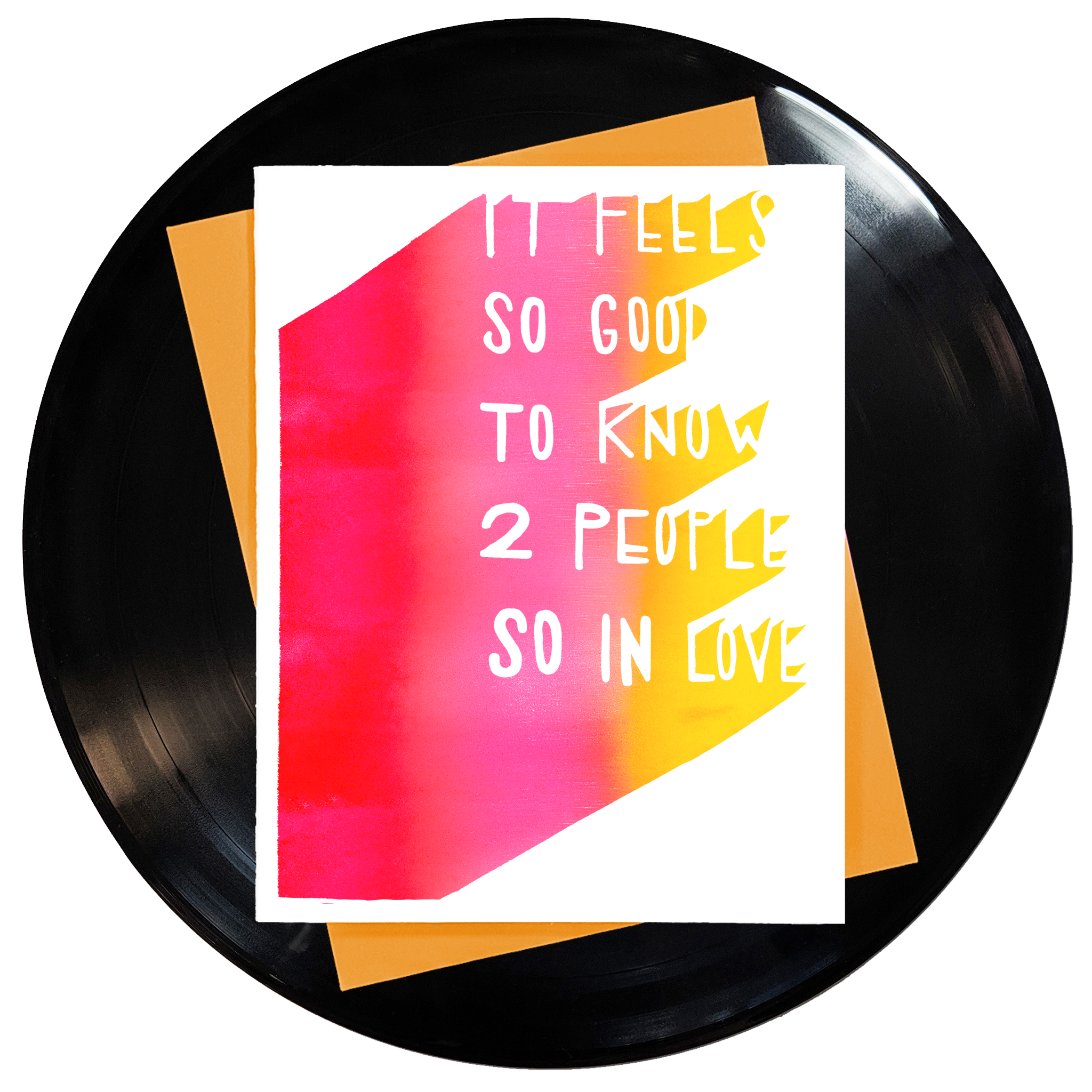 It Feels So Good To Know Two People So In Love Greeting Card 6-Pack Inspired By Music