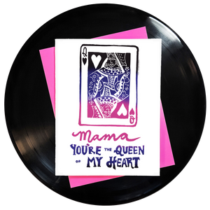 Mama You're The Queen Of My Heart Greeting Card - Wholesale