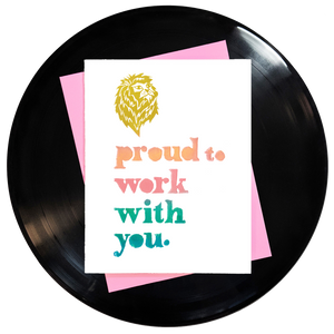 Proud To Work With You Greeting Card Inspired By Music