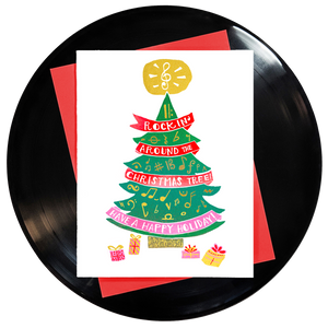 Rockin' Around the Christmas Tree Have a Happy Holiday Greeting Card - Wholesale