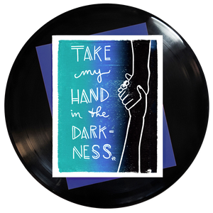 Take My Hand In The Darkness Greeting Card 6-Pack Inspired By Music