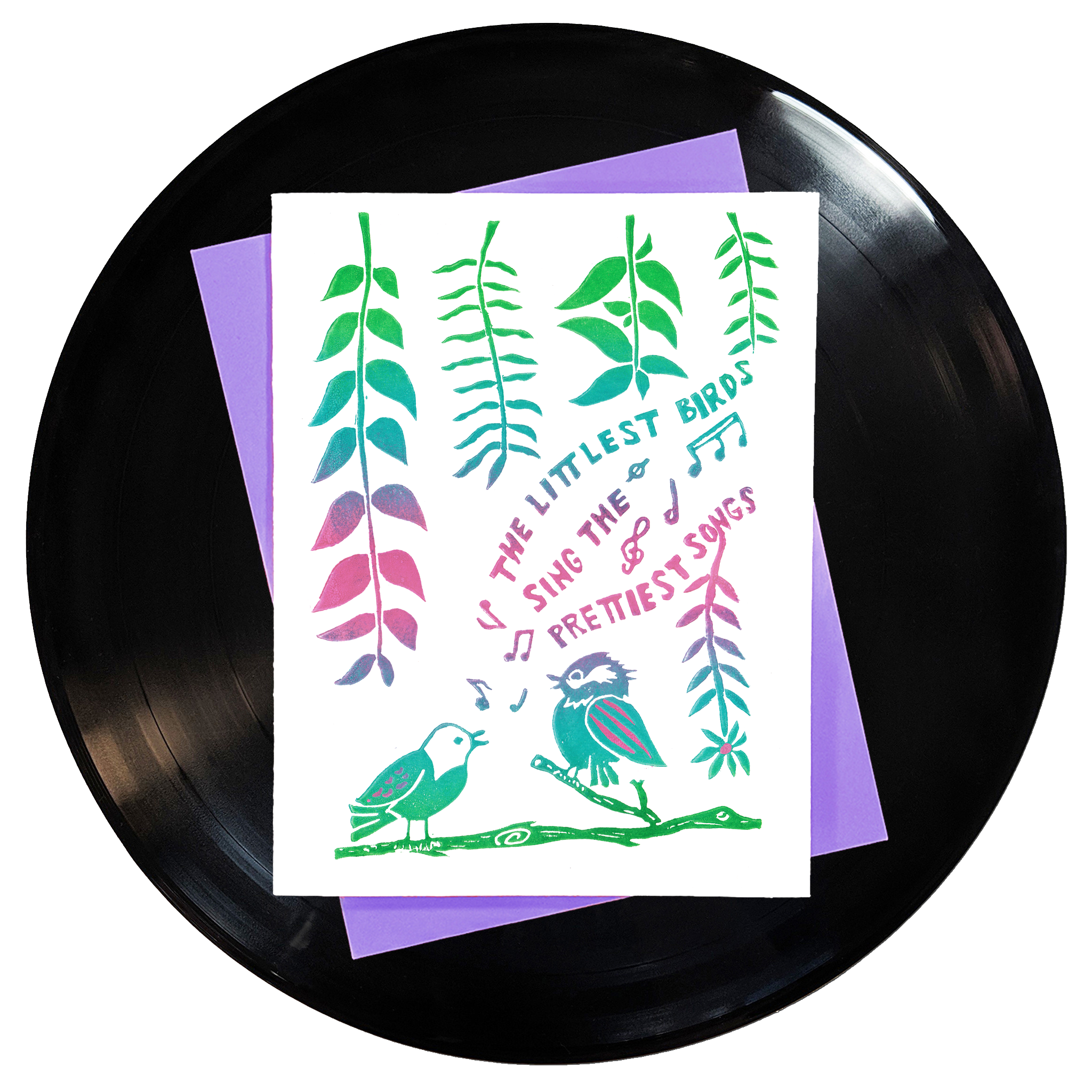 The Littlest Birds Sing The Prettiest Songs Greeting Card
