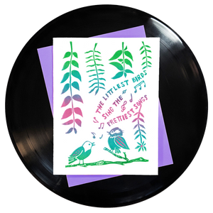 The Littlest Birds Sing Greeting Card - Wholesale