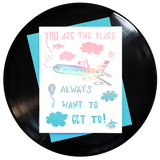 You Are The Place Greeting Card 6-Pack Inspired By Music