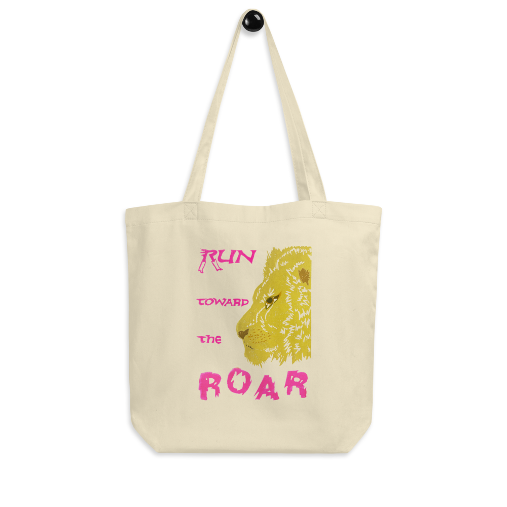 Run Toward The Roar Eco Tote Bag