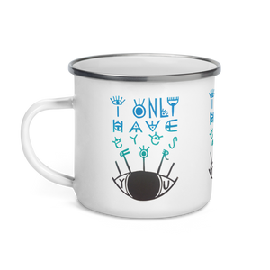 Eyes For You Enamel Camping Mug