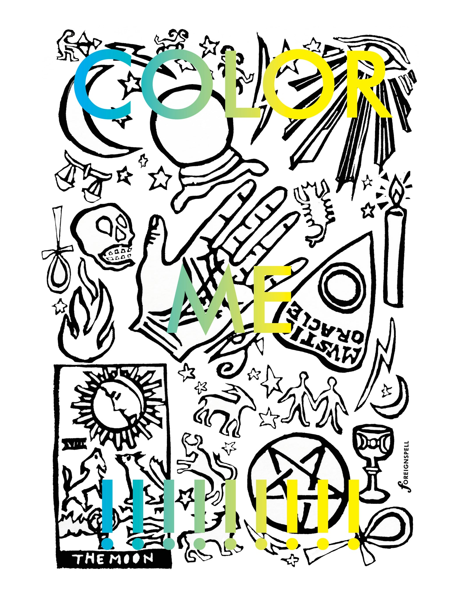 Occult Coloring Page Digital Download