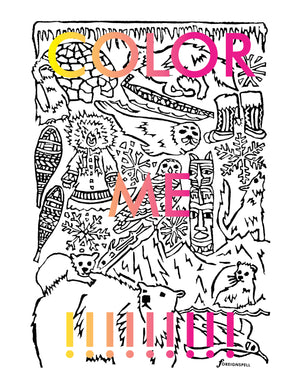 Full Set of 13 Coloring Pages Digital Download