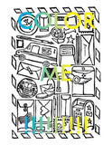 Postal Service Coloring Page Digital Download