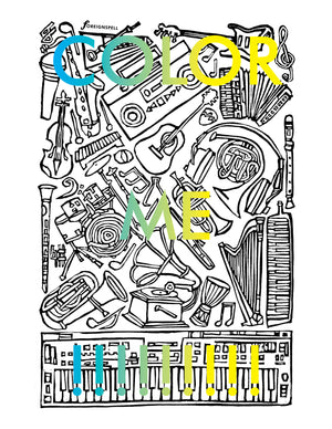Music Coloring Page Digital Download