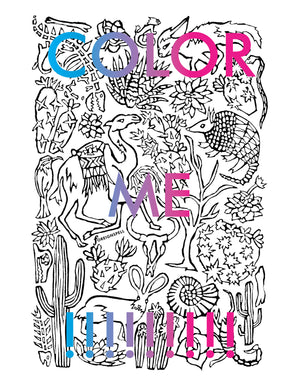 Desert Coloring Page Digital Download