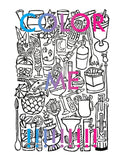 Cocktail Hour Coloring Page Digital Download
