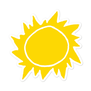 Retro Sun Bubble-free Stickers