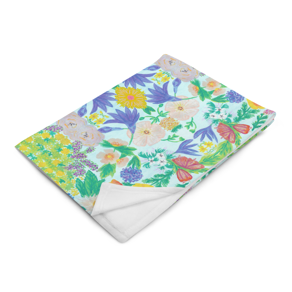 Garden for the Enlightenment Throw Blanket