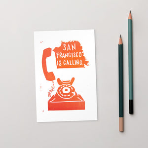 San Francisco Is Calling Standard Postcard