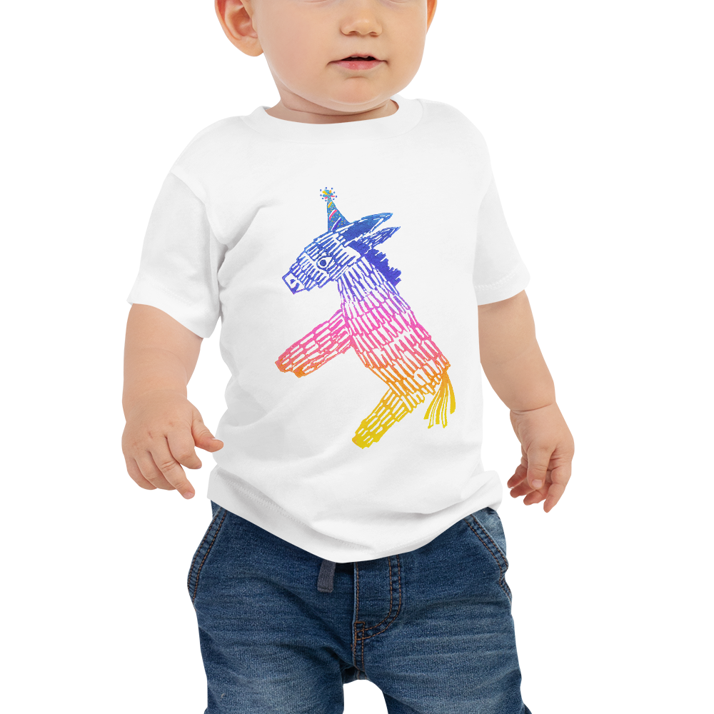 Happy Happy Joy Joy Donkey Pinata Baby Short Sleeve Tee