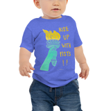 Rise Up With Fists!! Baby Short Sleeve Tee