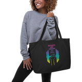 Females Are Strong As Hell Large Eco Tote Bag