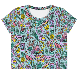 Tropical Fantasies Crop Tee