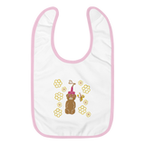 Honeybear Embroidered Bib