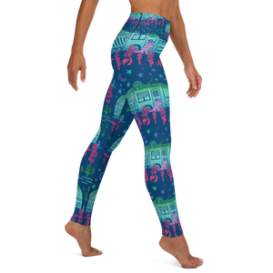 Rascal Raccoon & Airstream Dreams Yoga Leggings
