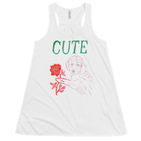 I Think You're Cute Flowy Racerback Tank