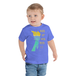 Rise Up With Fists!! Toddler Short Sleeve Tee
