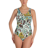 Whimsical Wilderness One-Piece Swimsuit