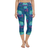 Rascal Raccoon & Airstream Dreams Yoga Capri Leggings