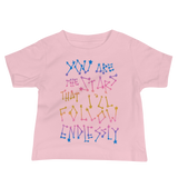 You Are The Stars That I'll Follow Endlessly Baby Short Sleeve Tee